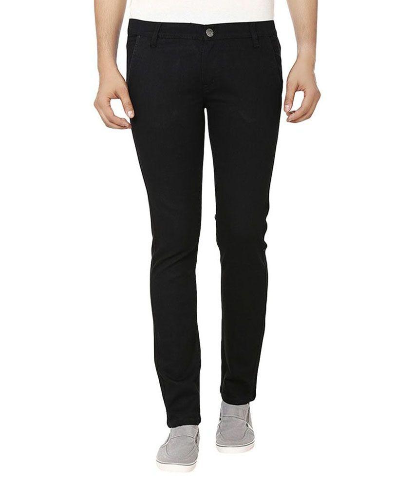 Ruff & Tuff Garments Black Regular Fit Jeans