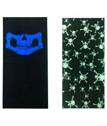 Atyourdoor Multicolour Polyester Headwrap For Men - Set Of 2