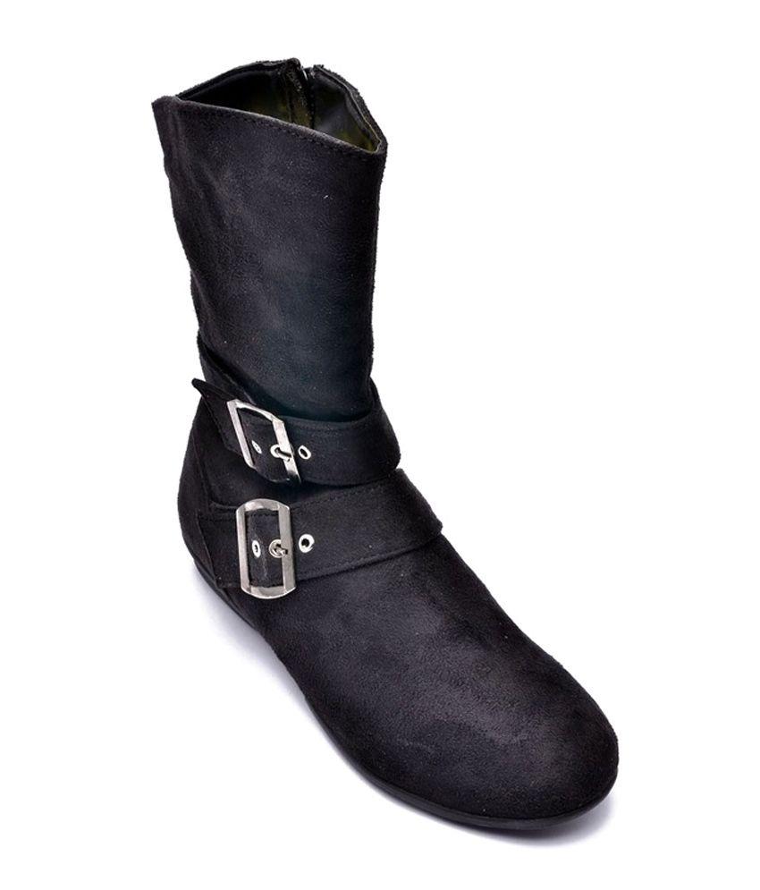 Bruno Manetti Black Flat Boots