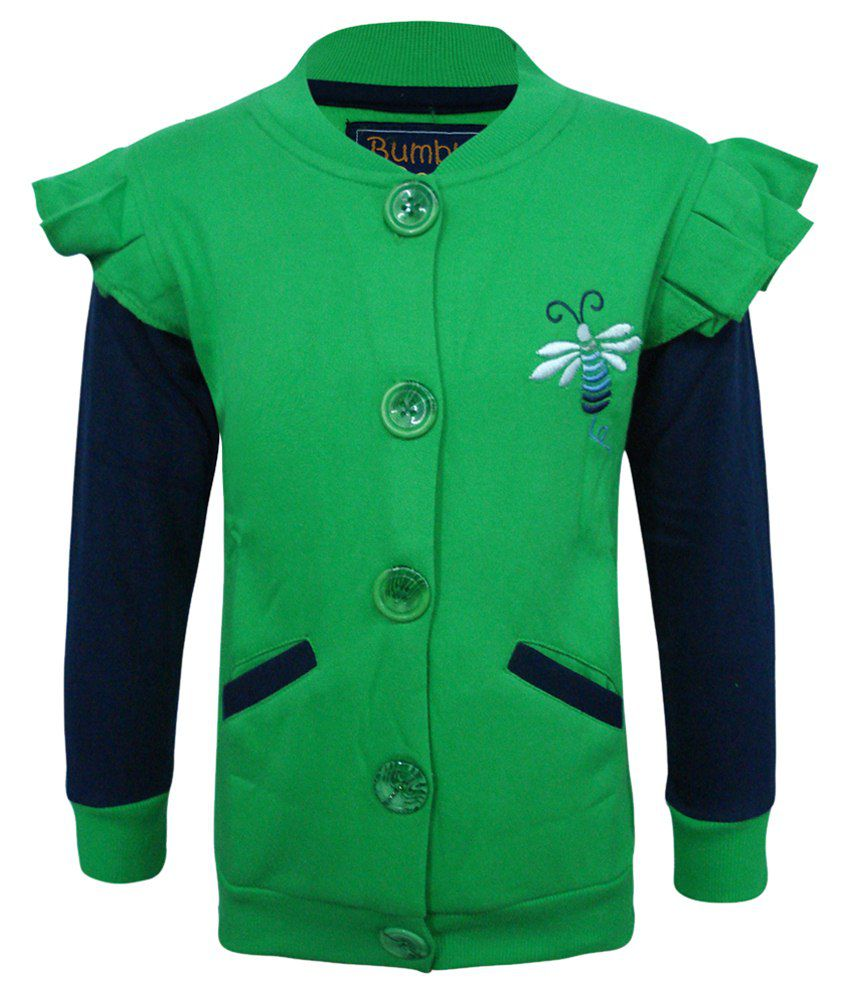 Kothari Green & Blue Sweatshirt For Girls