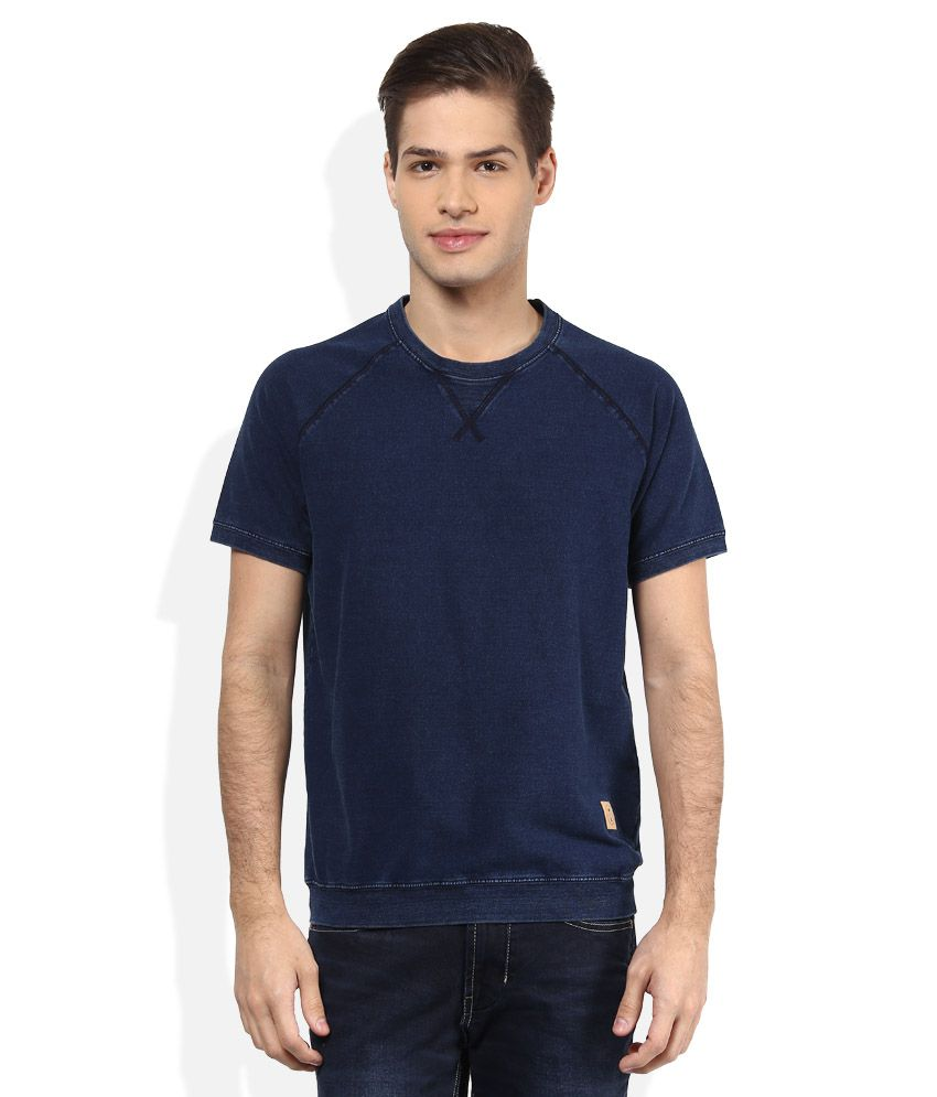 United Colors Of Benetton Navy Round Neck T Shirt
