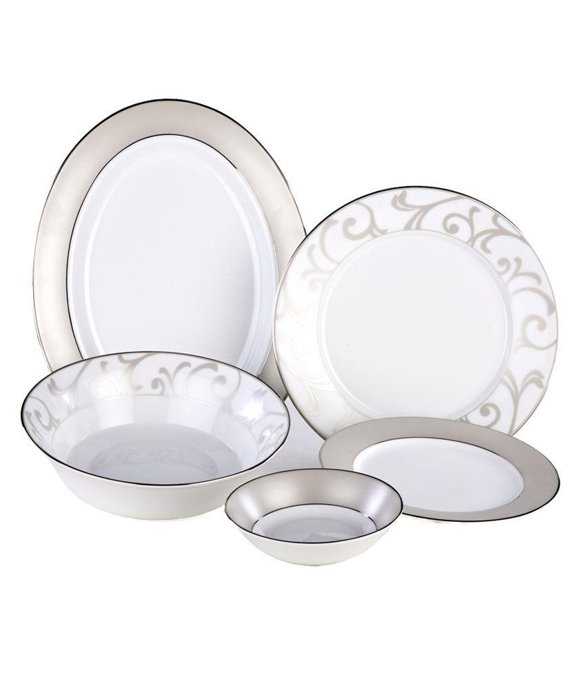 Dankotuwa Silver Mix Dinner Set 21 Pcs Online At Best