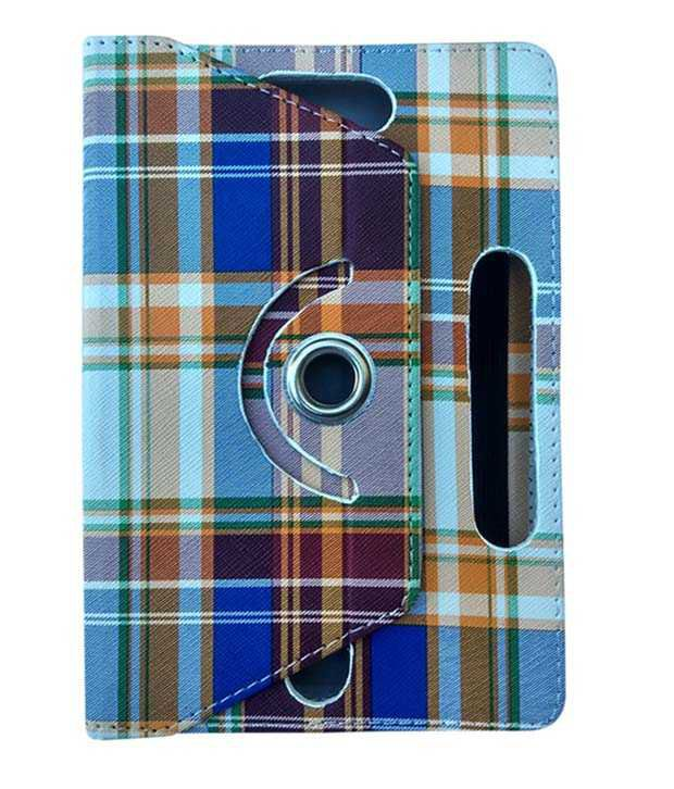 Fastway-Flip-Cover-For-Micromax-Canvas-Tabby-P469-Family-Tablet--Multicolor