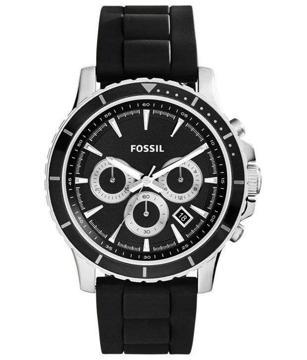 fossil black analog wrist watch for men buy fossil black analog fossil black analog wrist watch for men