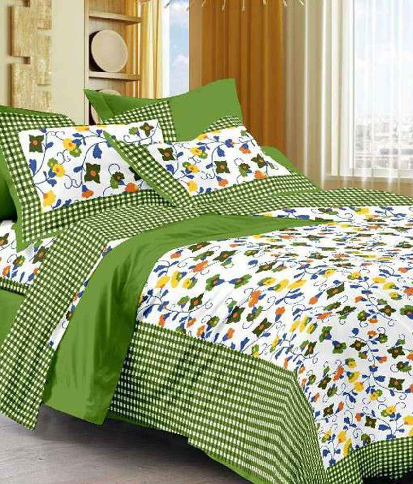 Uniqchoice Jaipuri Sanaganeri Floral King Size Double Bed Sheet With 2 Pillow Cover Buy Uniqchoice Jaipuri Sanaganeri Floral King Size Double Bed