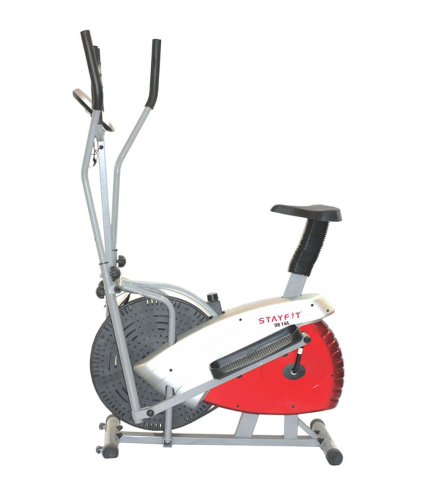 Stayfit DB -14A Magnetic Elliptical Bike (Silver & Red