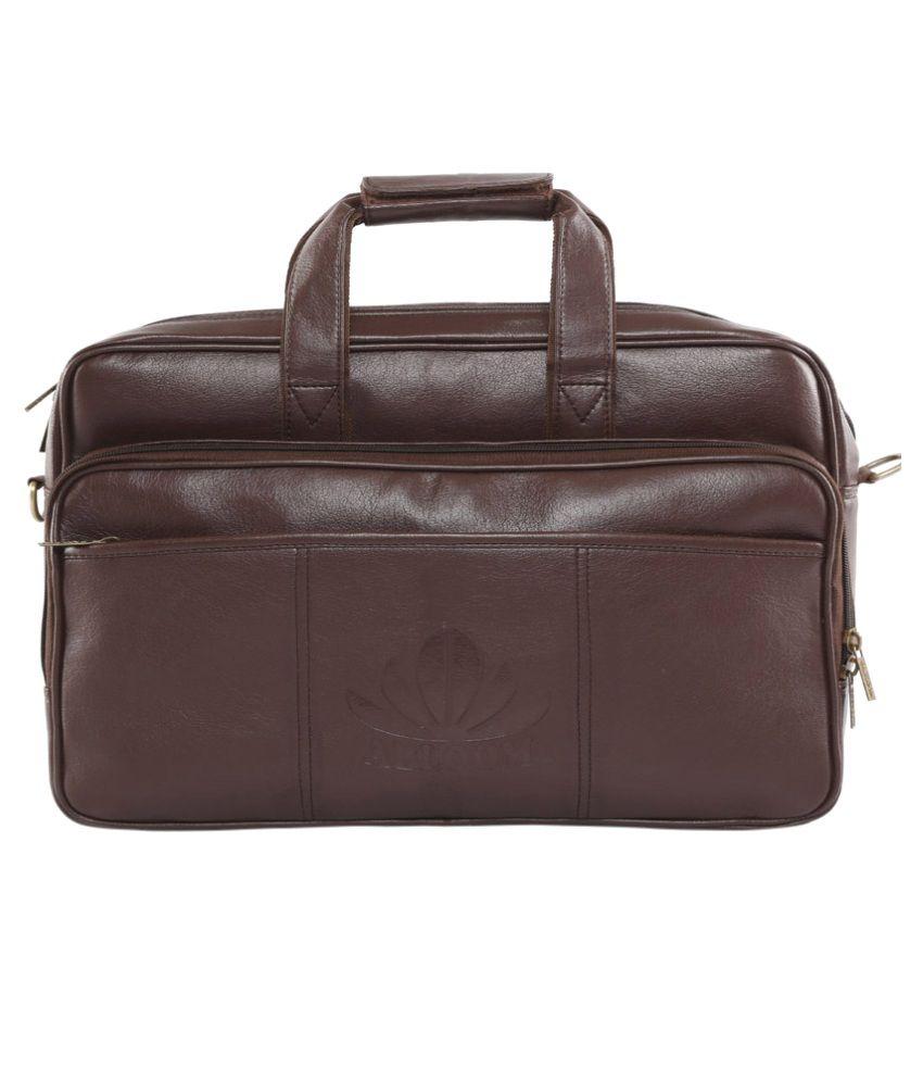 Abloom Office Bags Dark Brown For Laptops