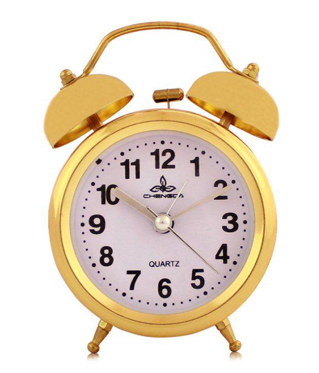 Fieesta Golden Steel Clock