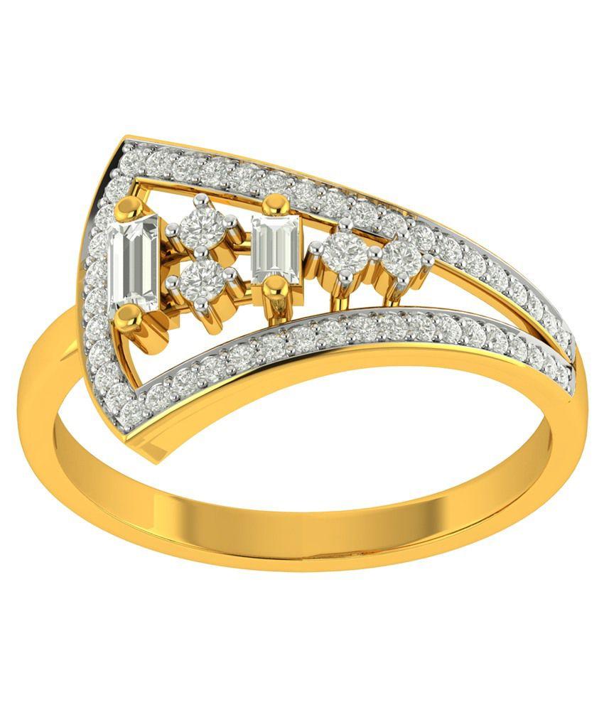 Charu Jewels 18kt Gold Diamond Ring
