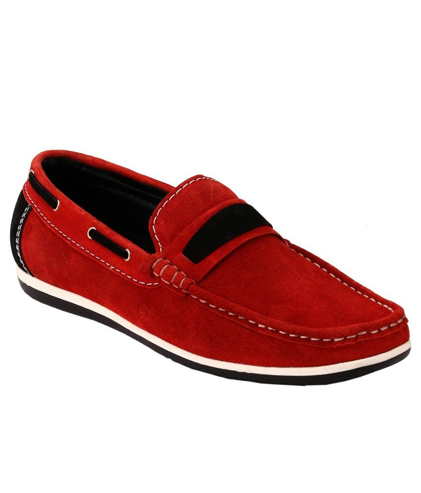 Gai Red Loafers