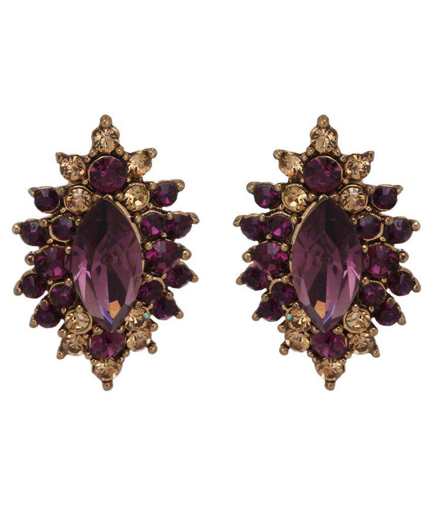 Maisha D'ziner Jewellery Purple Alloy Studs