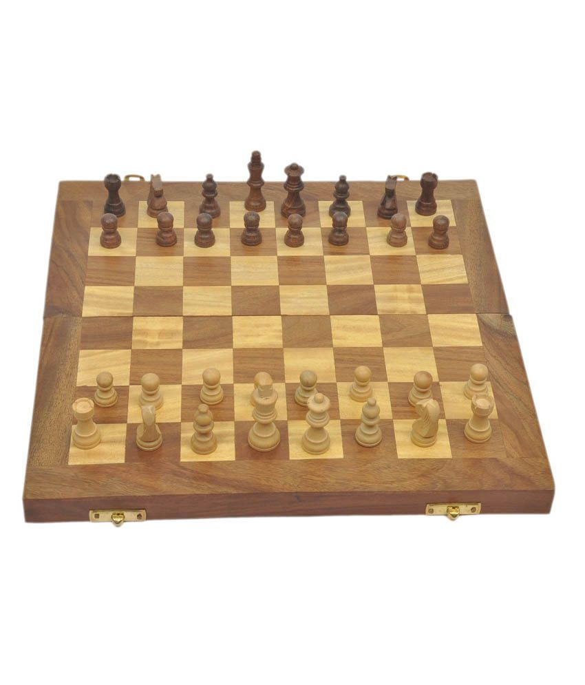 356f70423 Craftatoz Wooden Chess Board - Brown  Buy Online at Best Price on Snapdeal