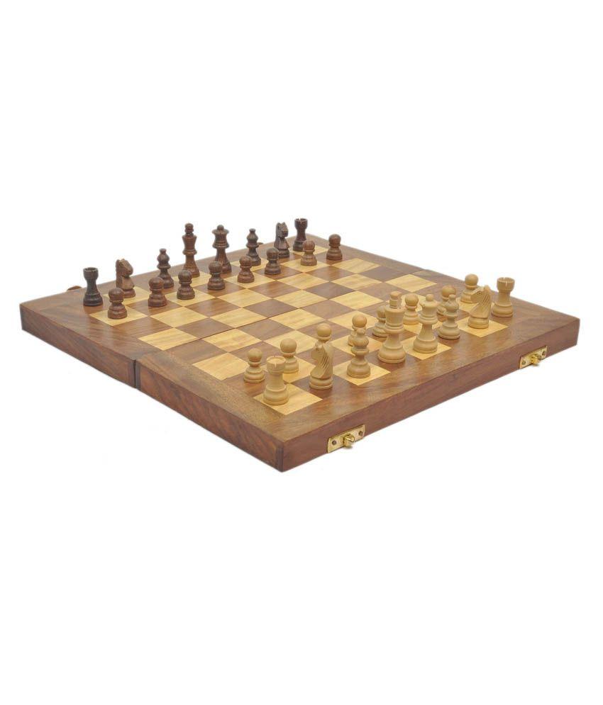 f3aef8fe6 Craftatoz Wooden Chess Board - Brown Craftatoz Wooden Chess Board - Brown  ...