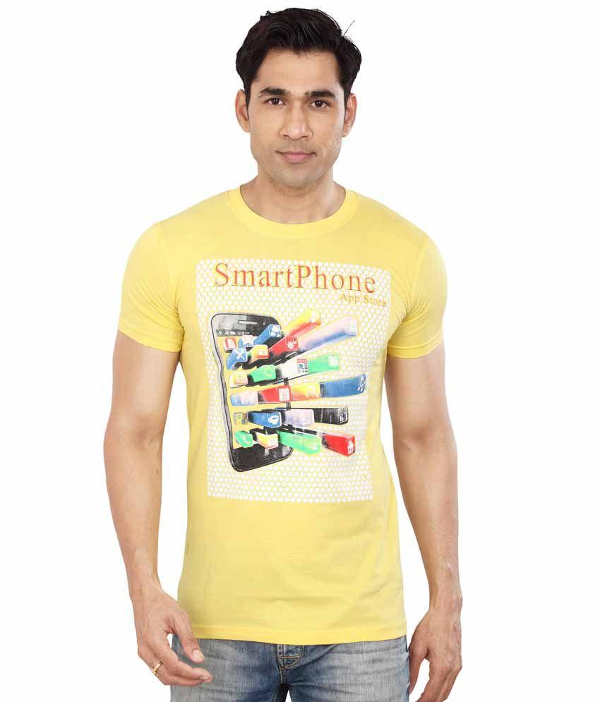Dudlind-kicker Yellow Cotton T-shirt