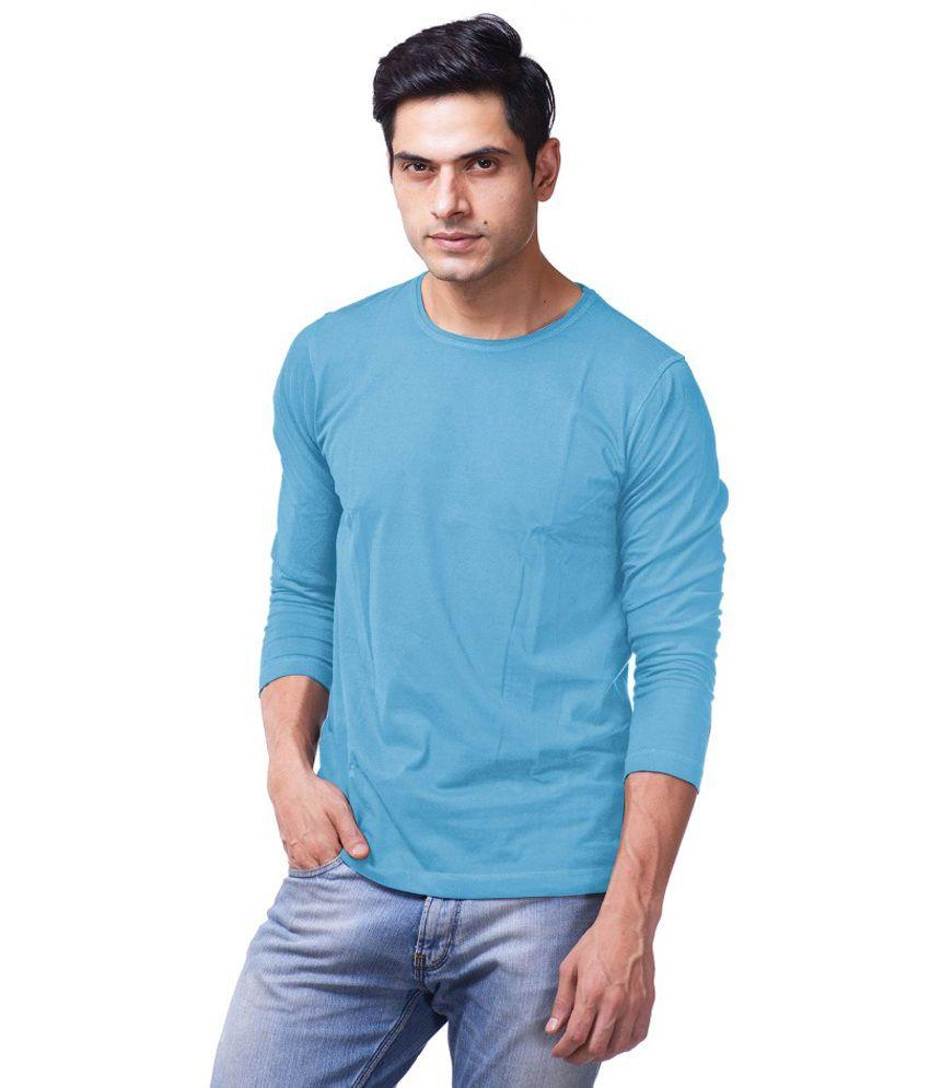 Purple Haze Clothing Blue Cotton T-Shirt