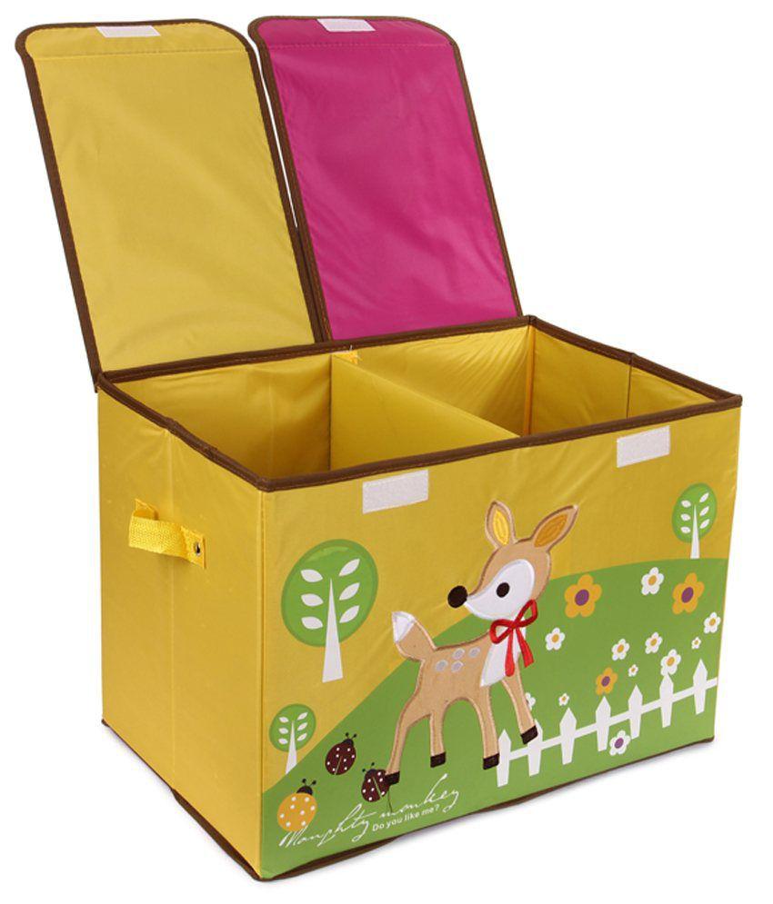 uberlyfe foldable kids toy storage boxorganizer double flap large - Toy Storage Boxes