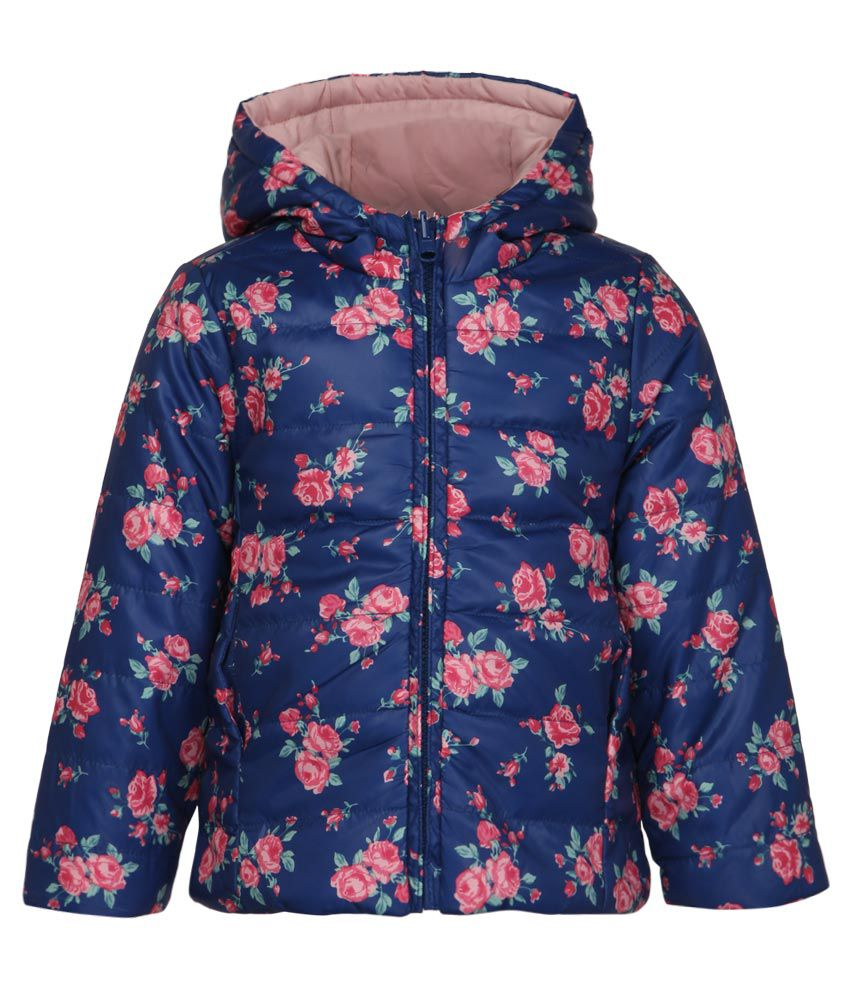 United Colors Of Benetton Pink & Navy Hooded Reversible Jacket