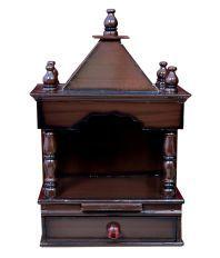 Quality Creations Brown Wooden Mandir