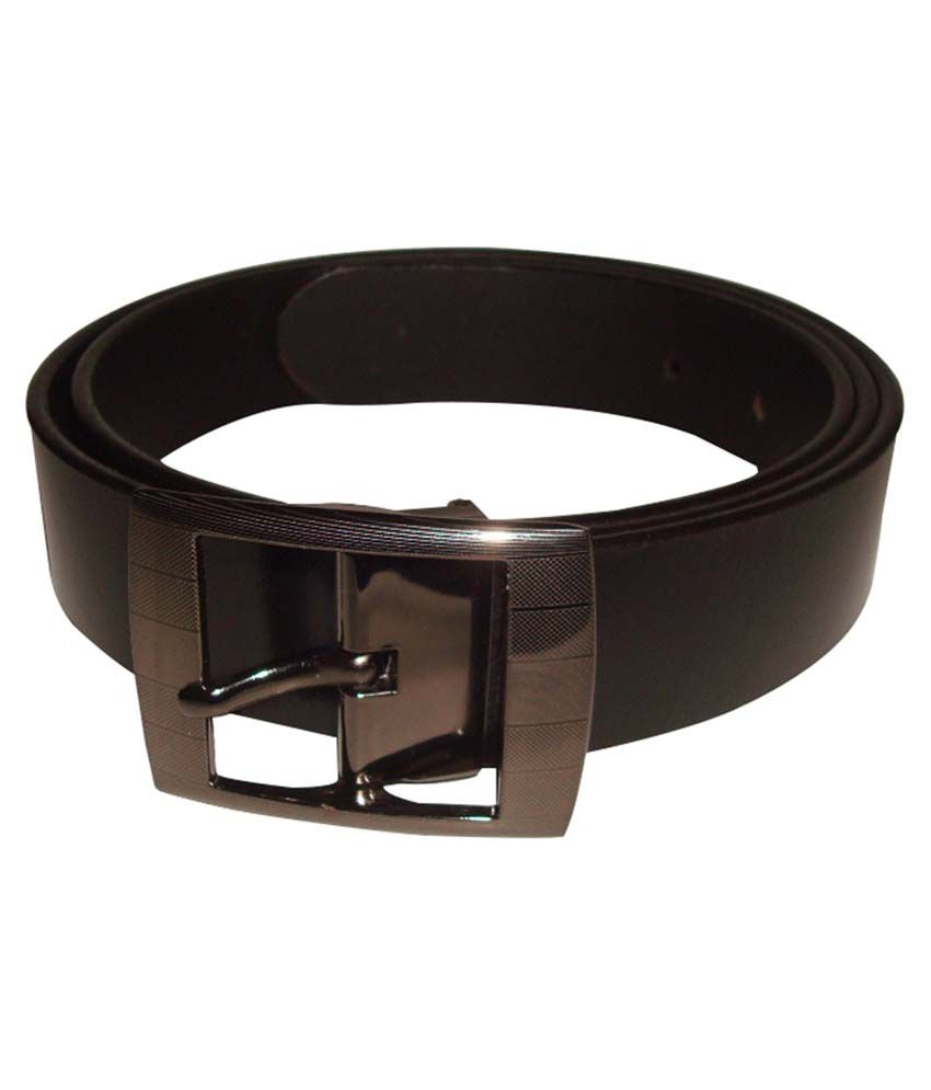 Cob Goshin Black Leather Pin Buckle Formal Belt