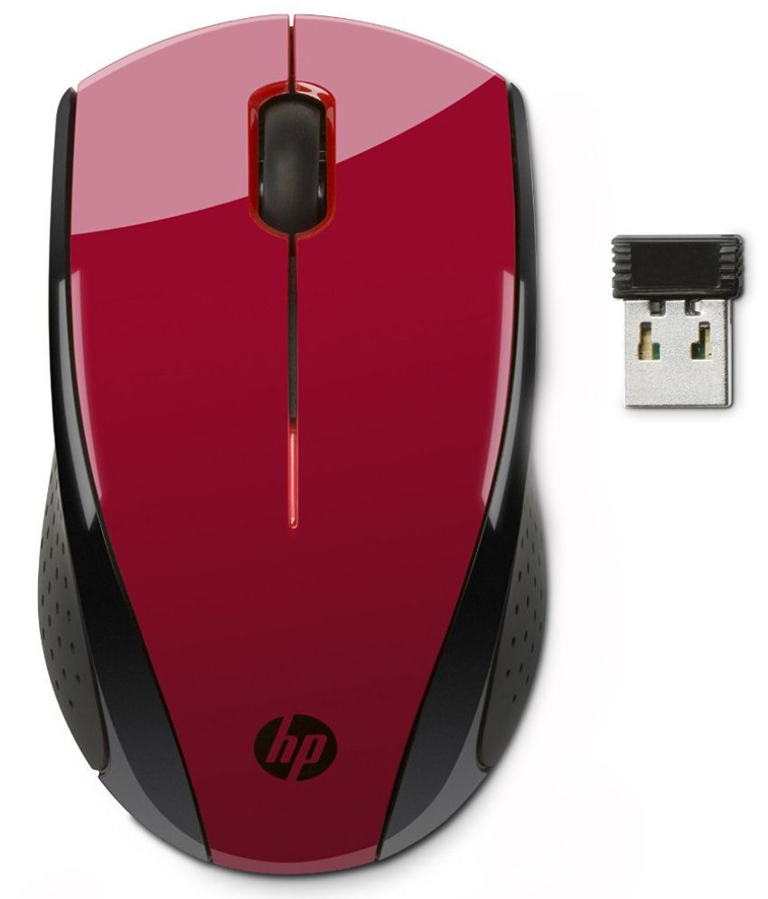 Hp X3000 Wireless Mouse Red And Black
