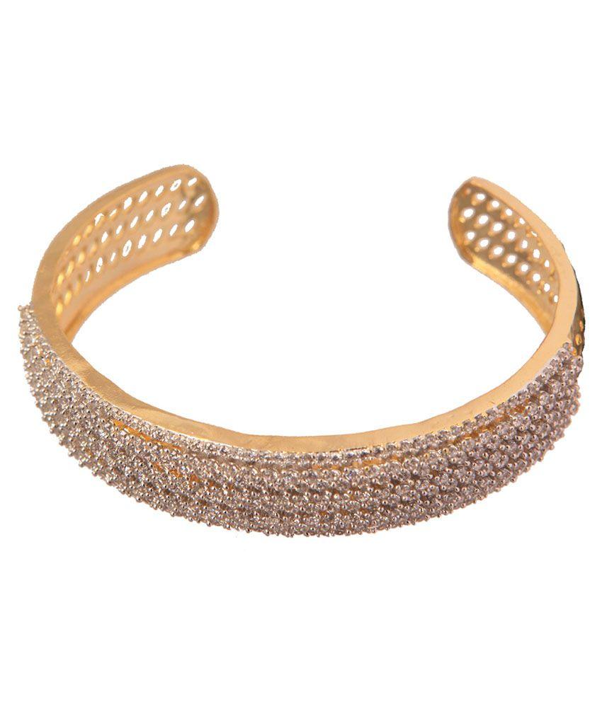 Vaishali Bindi And Bangles Golden CZ Studded Bracelet
