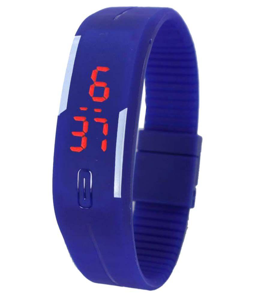 Atkin Blue Digital LED Wrist Watch For Kids