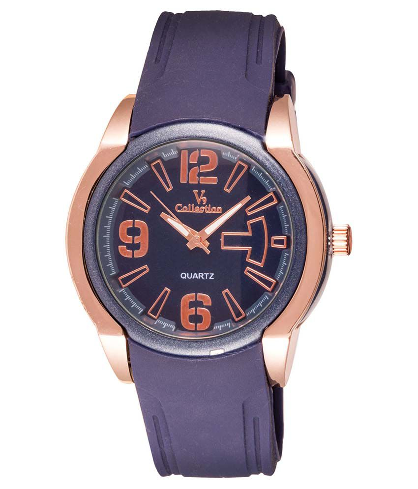 Fastrend Blue Round Analog Sports Watch
