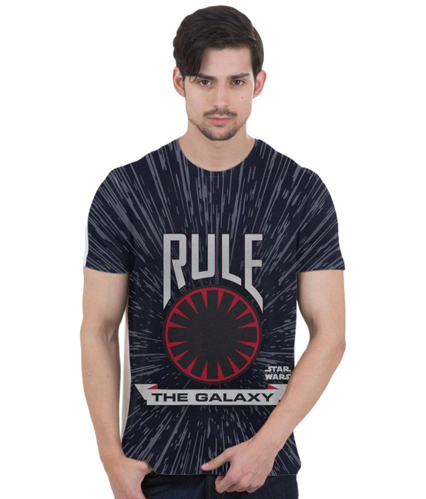 Freecultr Express Blue & Gray Rule the Galaxy Printed T Shirt