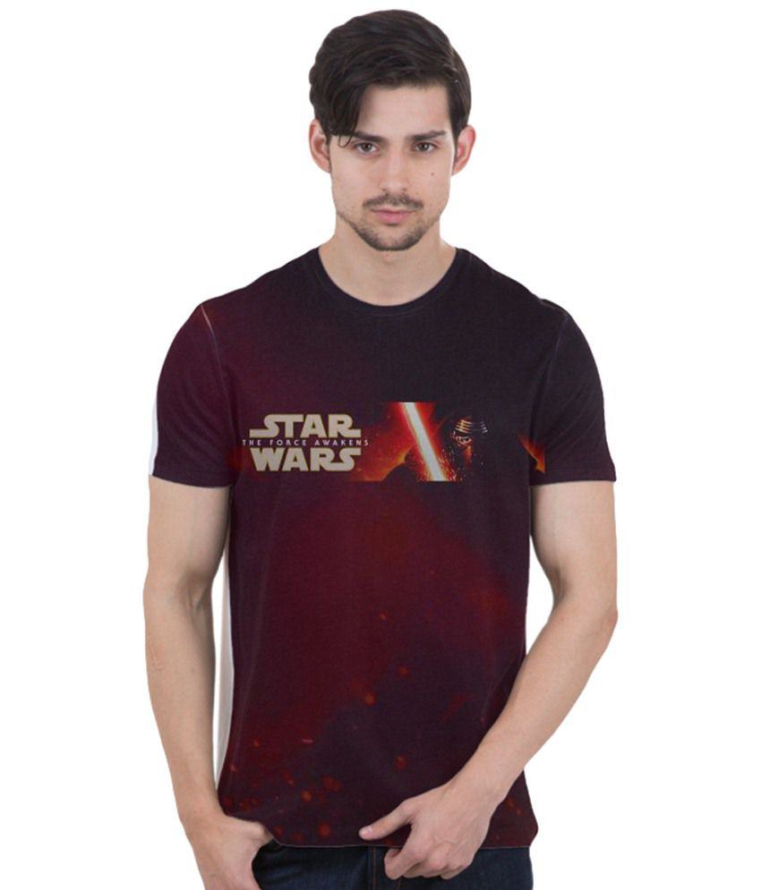 Freecultr Express Maroon & Beige The Dark Side Kylo Ren Printed T Shirt