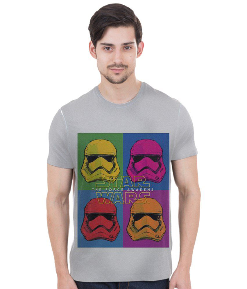 Freecultr Express Multicolour Troopers POP Art Printed T Shirt