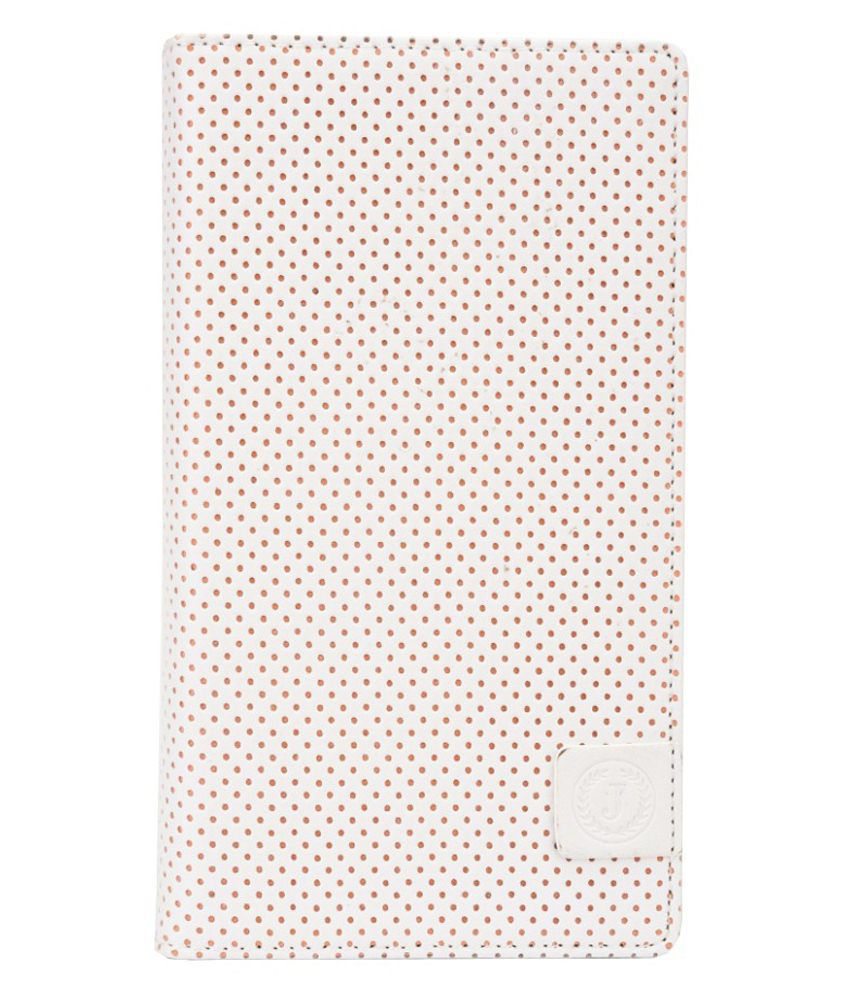 Jo Jo Flip Cover For Intex Aqua Life Iii-White