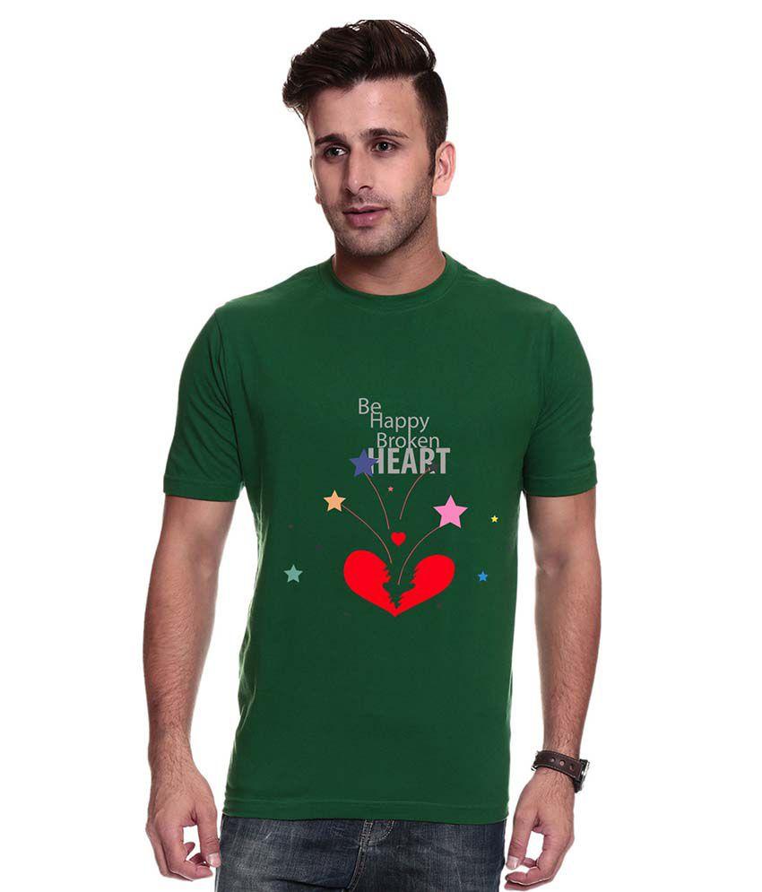 Trendster Green Cotton Blend T-Shirt