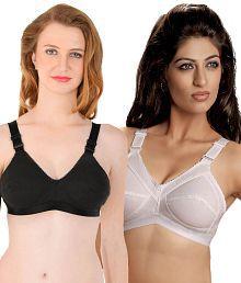 Eve's Beauty Multi Color Cotton Bra Pack of 2