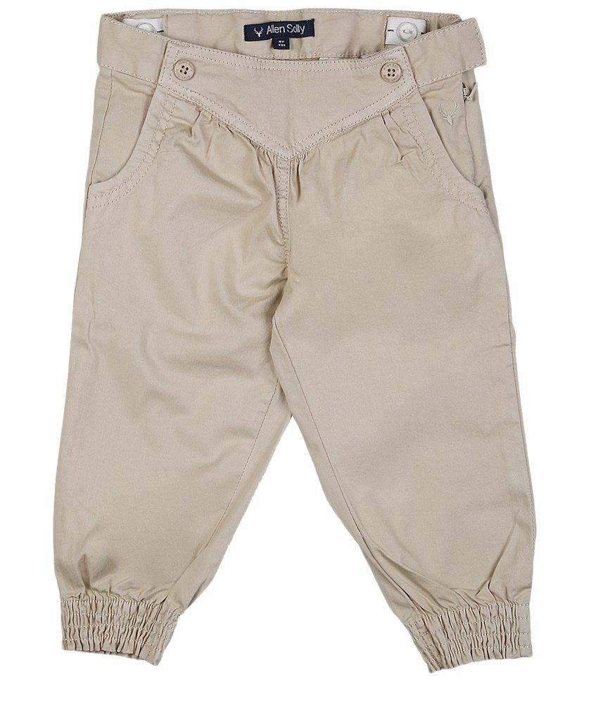 Allen Solly Beige Cotton Capris