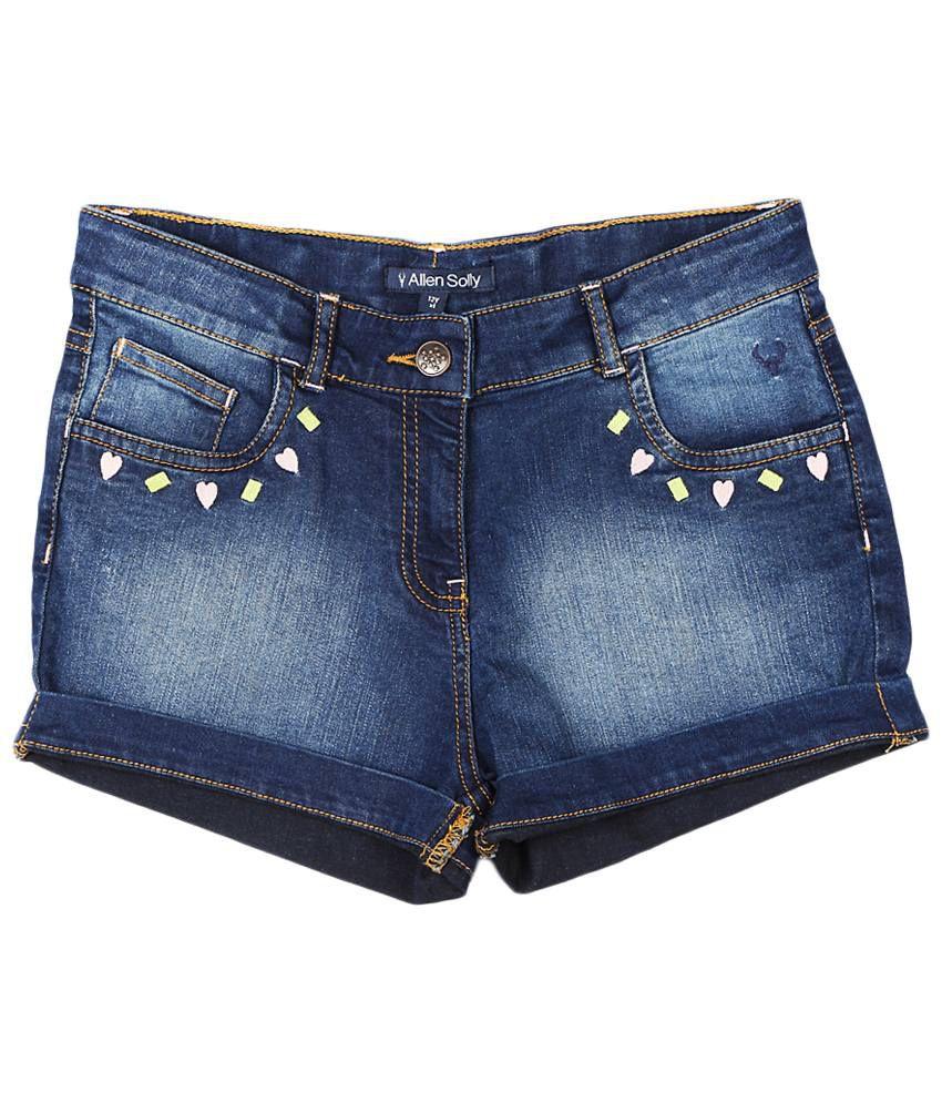 Allen Solly Blue Polyester Shorts