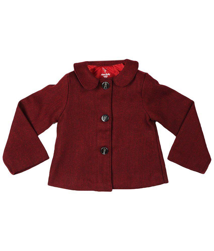 Allen Solly Maroon Full Sleeve Coat