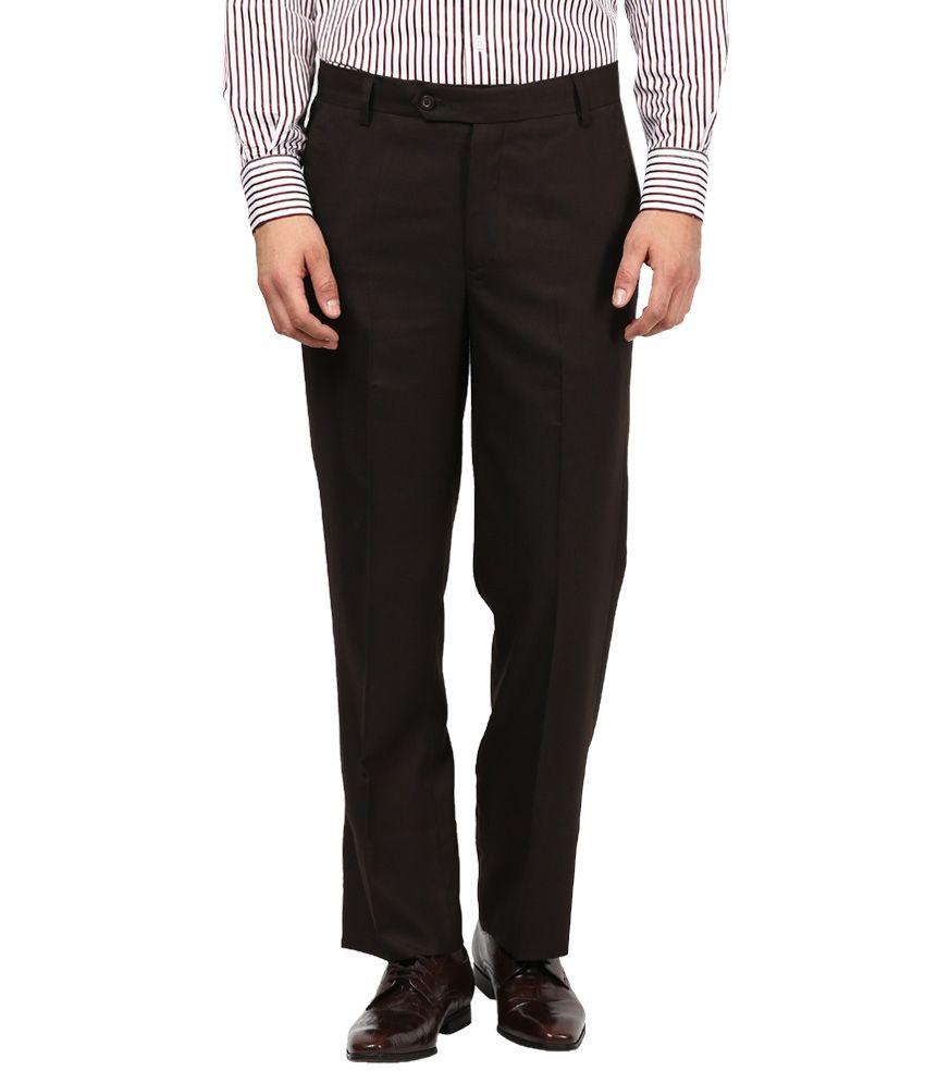 IZ Apparels Black Classic Formal Trousers