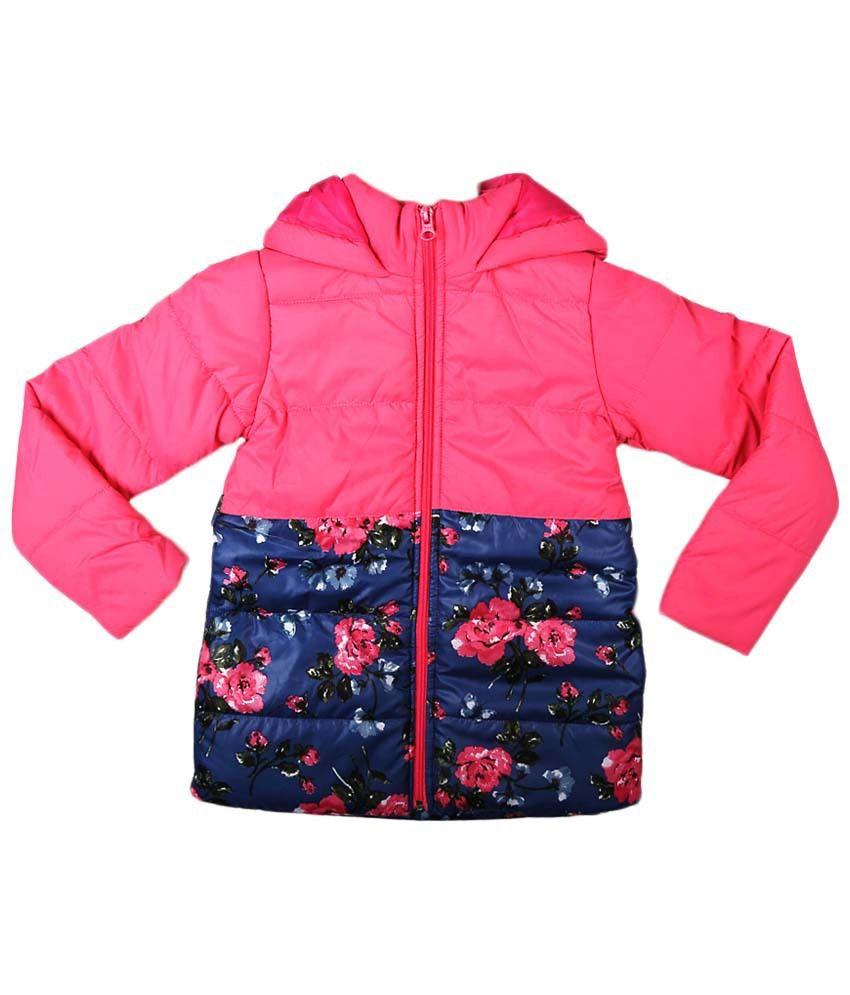People Pink & Blue Full Sleeve Hooded Jacket