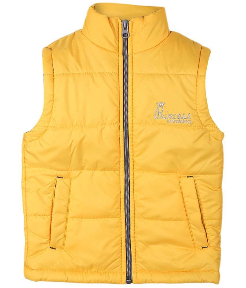 People Yellow Sleeveless Jacket