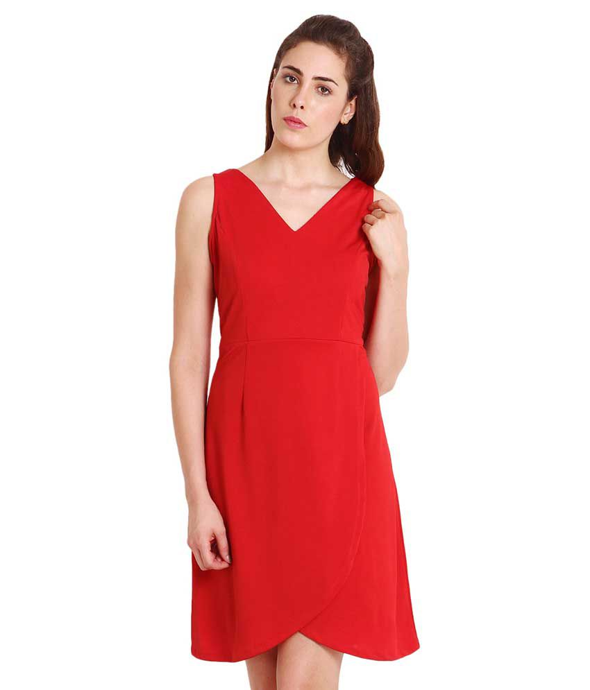 Soie Red Polyester Dresses