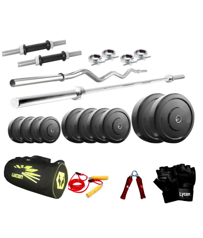 Cybex Treadmill Error Code 6: Lycan 26 Kg Home Gym + 5 & 3 Feet Rods + Bag Pack