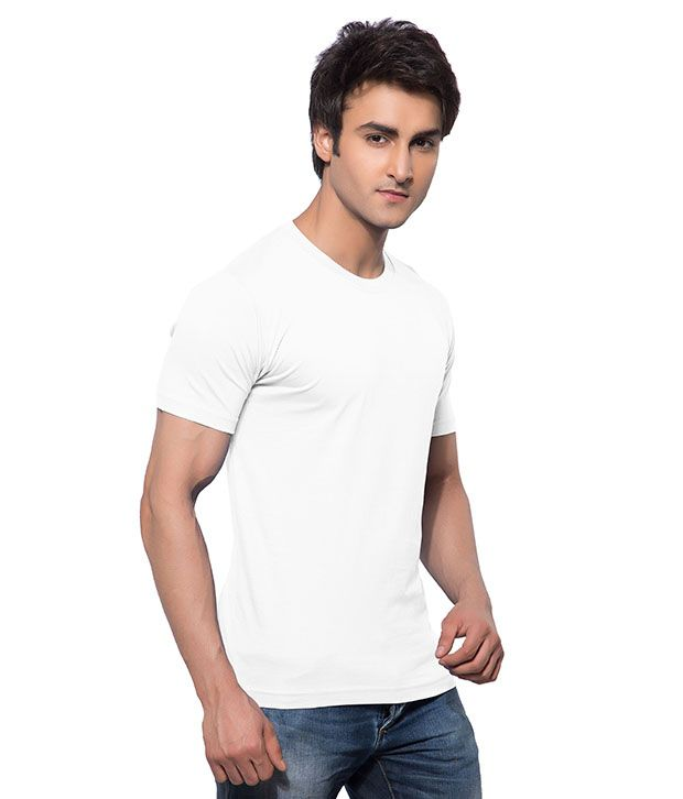 Calix White Cotton T-Shirt