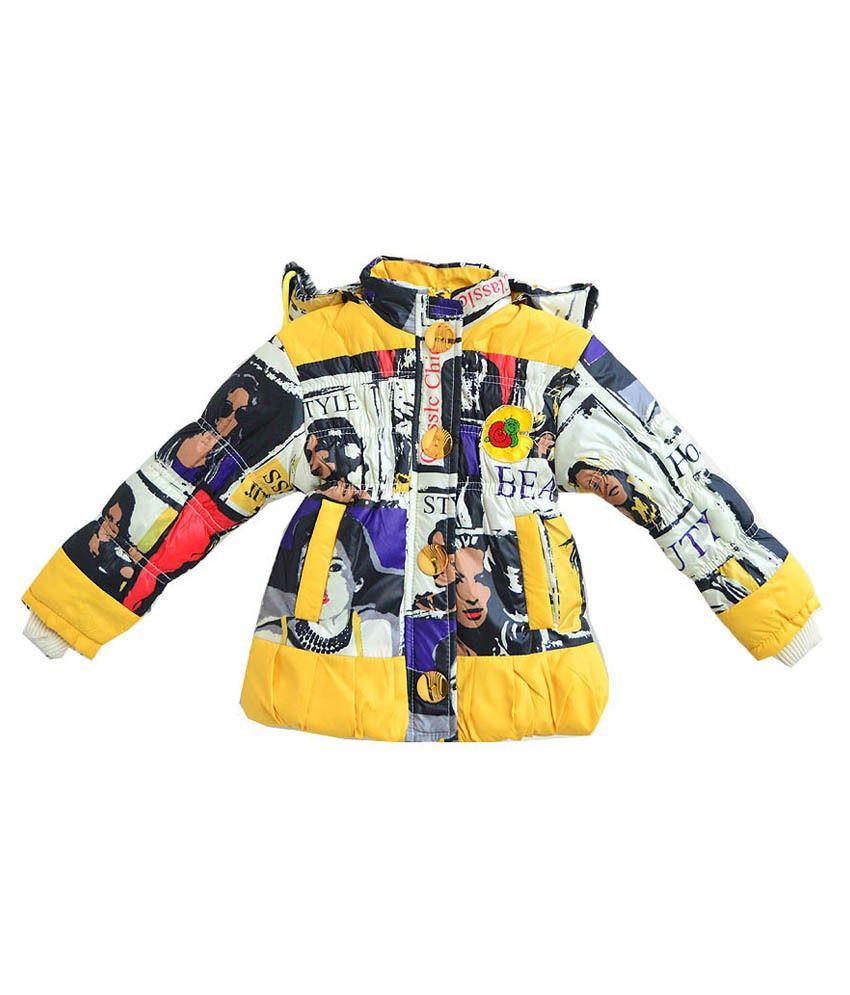 London Girl Yellow Jacket For Girls