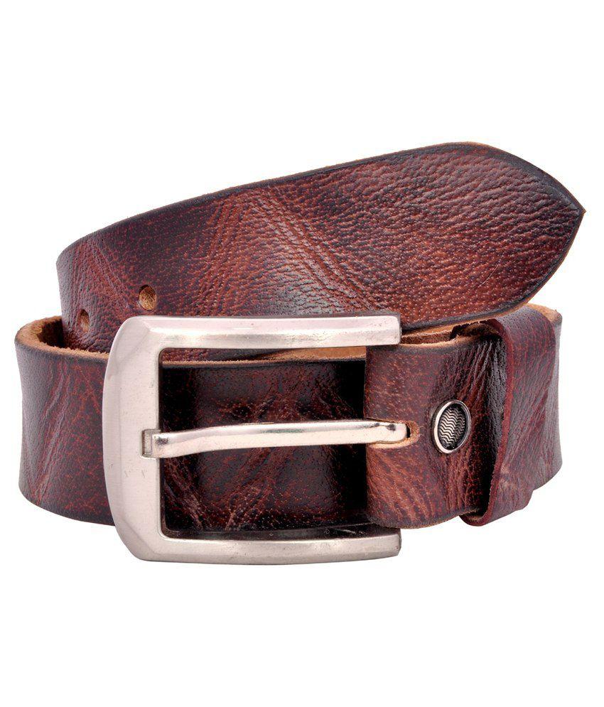 Pavni Brown Leather Belt For Men