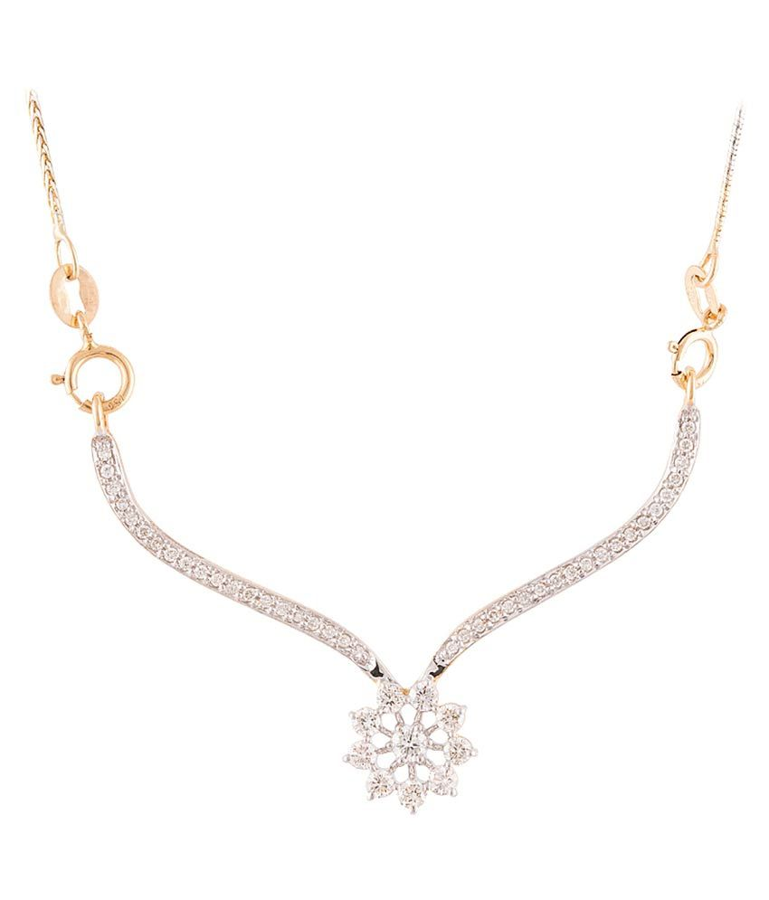 Wite&gold 18kt Gold Diamond Mangalsutra Without Chain