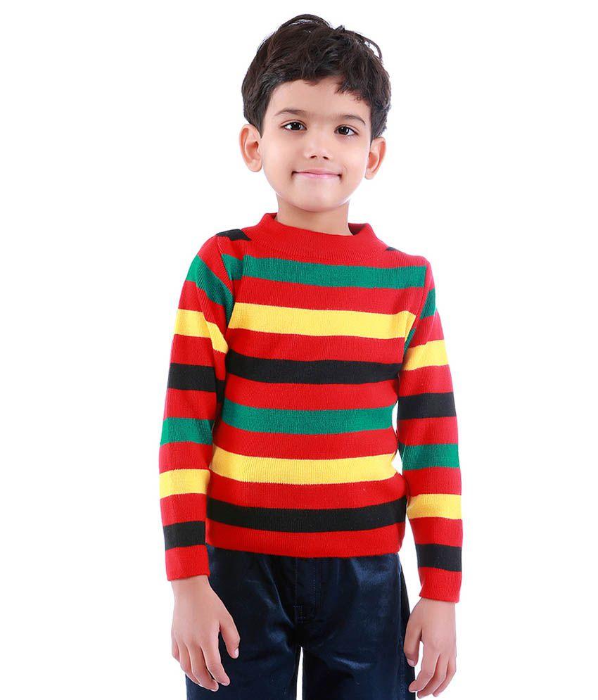 Dee Venice Red Acrylic Sweater