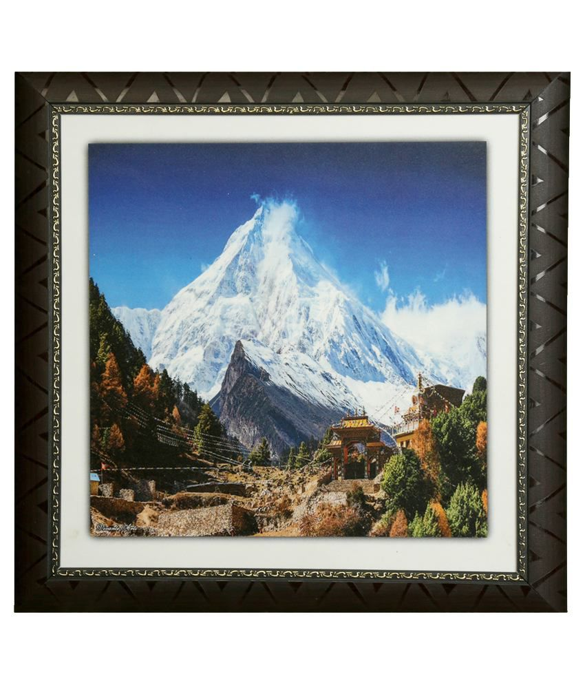 Truce Landscape Wall Painting With Frame