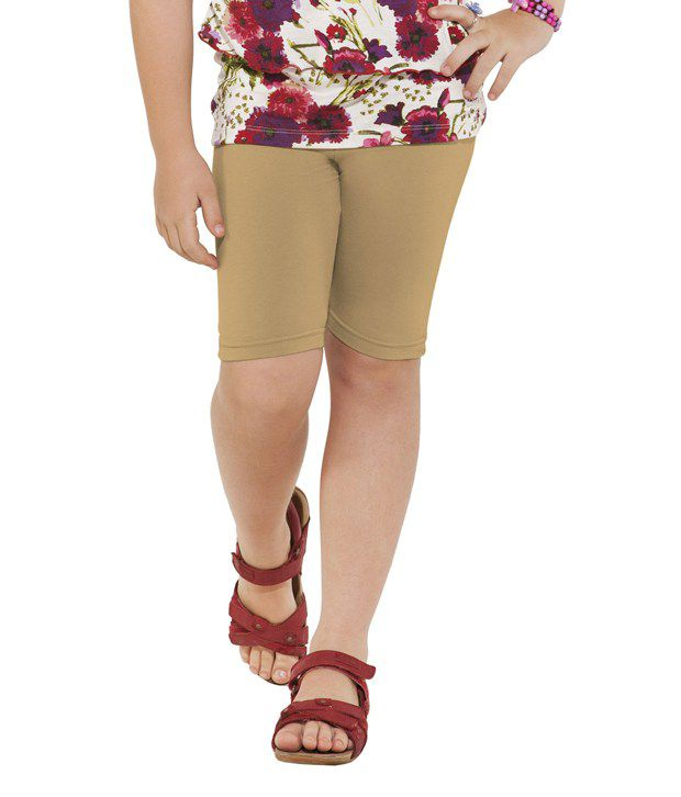 Go Colors Brown Shorts For Girls
