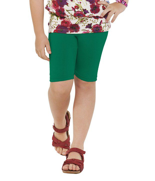 Go Colors Green Shorts For Girls