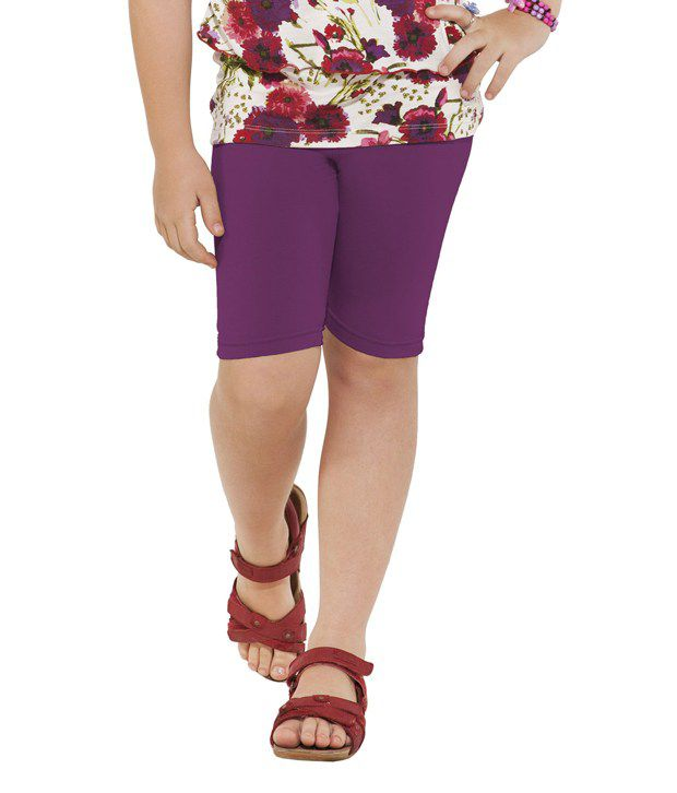 Go Colors Purple Shorts For Girls